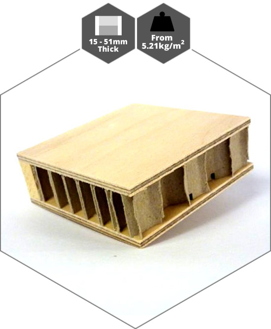 plywood faced lightweight honeycomb panels